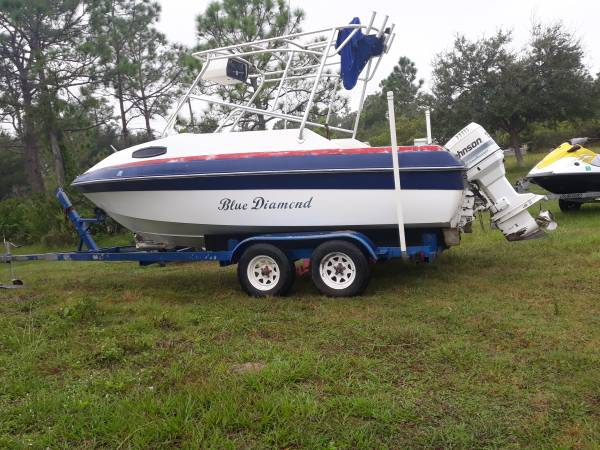 Photo 1990. 19 ft Cuddy Cabin boat - $1,500 (Punta Gorda)