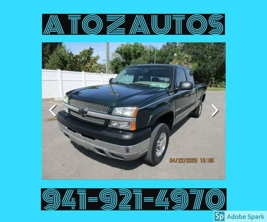 Photo 1 OWNER74K MILES2004 CHEVY SILVERADO 2500HD - $12900 (A TO Z AUTOS - YOUR 1 BUY HERE PAY HERE)