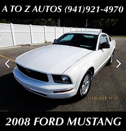 Photo 1 OWNER 2008 FOR MUSTANG - $7900 (A TO Z AUTOS - YOUR 1 BUY HERE PAY HERE)