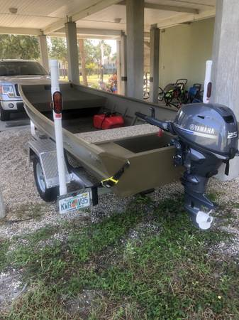 Photo 2019 Welded G3 Jon Boat with 25 hp Yamaha Outboard - $6800 (MacDill AFB)