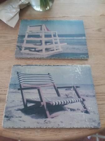 Photo 2 Piece Beach Chair Art - $20