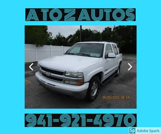 Photo 3RD ROW SEATING2002 CHEVY TAHOE LT - $6900 (A TO Z AUTOS - YOUR 1 BUY HERE PAY HERE)