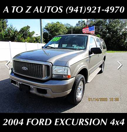 Photo 3RD ROW SEATING 2004 FORD EXCURSION - 4X4 - $6900 (A TO Z AUTOS - YOUR 1 BUY HERE PAY HERE)