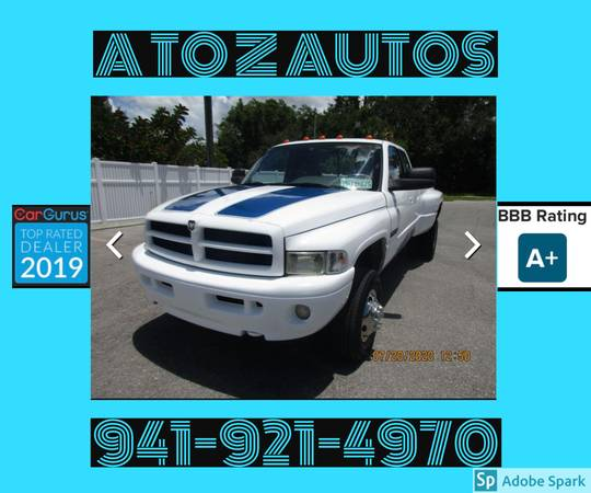 Photo 4X4CUMMINS1995 DODGE RAM 3500 - $10,900 (A TO Z AUTOS - YOUR 1 BUY HERE PAY HERE)