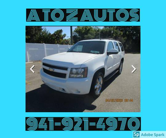 Photo 4X4 - 3RD ROW SEATING - LTZ - 2007 TAHOE - $8900 (A TO Z AUTOS - YOUR 1 BUY HERE PAY HERE)
