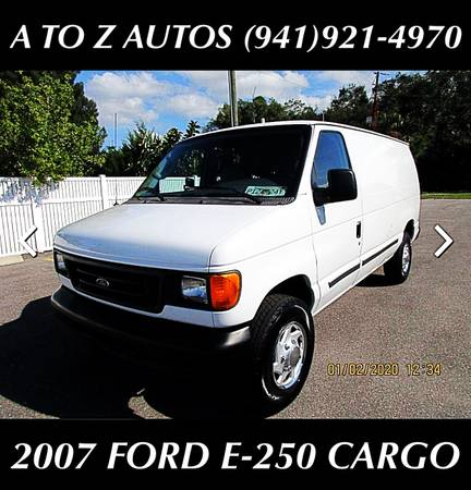 Photo 6 VANS TO CHOOSE FROM 2007 FORD E-250 CARGO VAN - $8900 (A TO Z AUTOS - YOUR 1 BUY HERE PAY HERE)