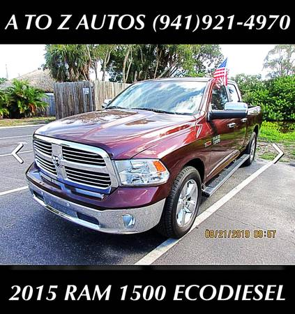 Photo 79K MILES 2015 RAM 1500 ECODIESEL BIG HORN EDITION - $19500 (A TO Z AUTOS - YOUR 1 BUY HERE PAY HERE)