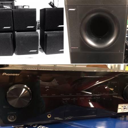 Photo Bose Acoustimass Home Theater Surround Sound System  Pioneer Receiver - $250 (NW Bradenton)