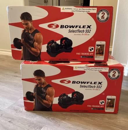 Photo Brand New Bowflex SelectTech 552 Adjustable Dumbbells Pair (Set Of 2 Dumbbells) - $550 (Sarasota)