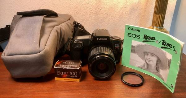 Photo CANON REBEL EOS S II Film Camera 35-80mm Lens, UV Filter, Strap, Case - $65 (SARASOTA)