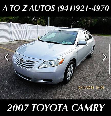 Photo CLEAN 2007 TOYOTA CAMRY - $6900 (A TO Z AUTOS - YOUR 1 BUY HERE PAY HERE)