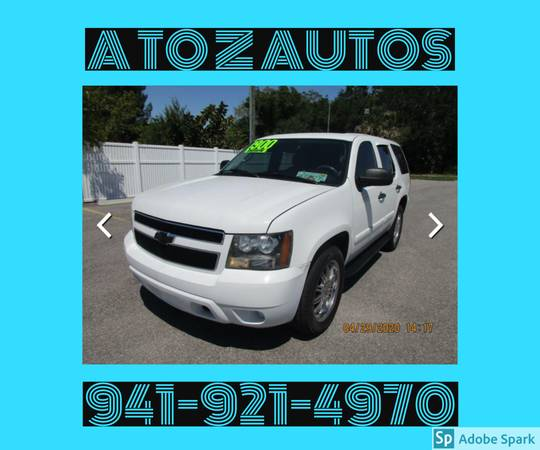 Photo FINANCING AVAILABLE2007 CHEVY TAHOE - LS - $7900 (A TO Z AUTOS - YOUR 1 BUY HERE PAY HERE)