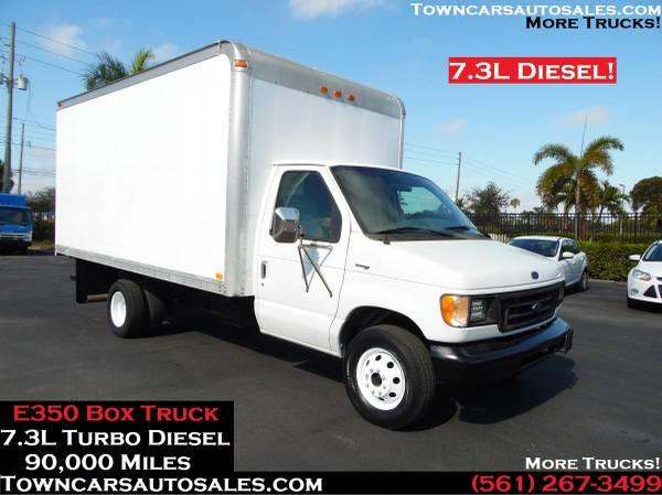Photo Ford E350 Box Truck 7.3L TURBO DIESEL Cutaway Box Van Box Truck - $14,500 (E350 E-350 Box Truck)