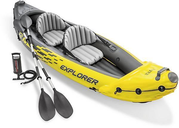 Photo Inflatable Kayak 2 seater with oars,pump and carry bag - $60 (sarasota)