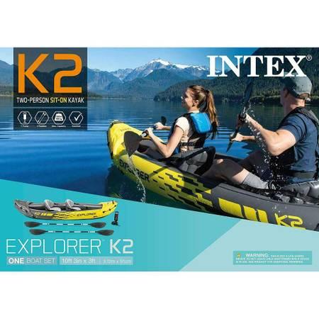 Photo Inflatable Kayak 2 seater with oars,pump and carry bag - $100 (sarasota)