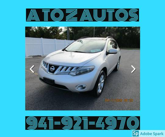 Photo LOW MILEAGE2009 NISSAN MURANO - $7900 (A TO Z AUTOS - YOUR 1 BUY HERE PAY HERE)