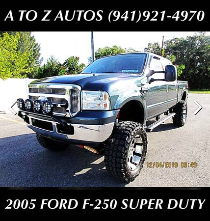 Photo LOW MILESLIFTED 2005 FORD F-250 SUPER DUTY - $14900 (A TO Z AUTOS - YOUR 1 BUY HERE PAY HERE)