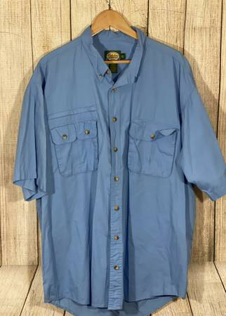 Photo Mens 2XLT Cabelas Blue Fishing Shirt(Nice) - $10 (Webber St.)