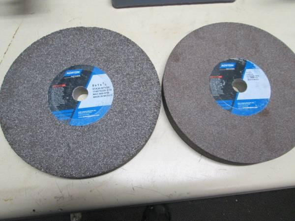 Photo New pair of 8 Baldor  Norton grinding wheels for bench grinder - $45 (MYAKKA CITY)