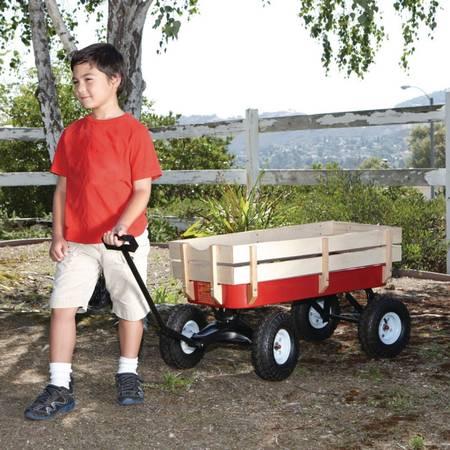 Photo Nice Red Wagon ..... 300 lb. capacity workgarden wagon - $100 (Sarasota)
