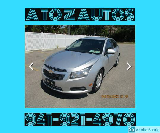 Photo ONLY 83K MILES2011 CHEVY CRUZE - LT - $7900 (A TO Z AUTOS - YOUR 1 BUY HERE PAY HERE)