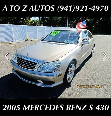 Photo ONLY 93K MILES2005 MERCEDES BENZ S430LOADED - $6900 (A TO Z AUTOS - YOUR 1 BUY HERE PAY HERE)