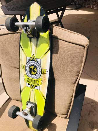 Photo Old school skateboard for sale great graphics kryptonics skateboard - $28 (Bradenton)