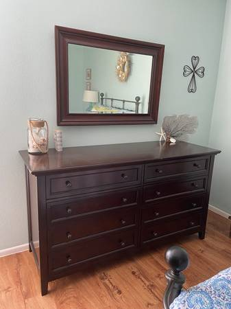 Photo Pottery Barn Hudson Bedroom PiecesDresser Nightstand Armoire Mirror - $475 (Sarasota)