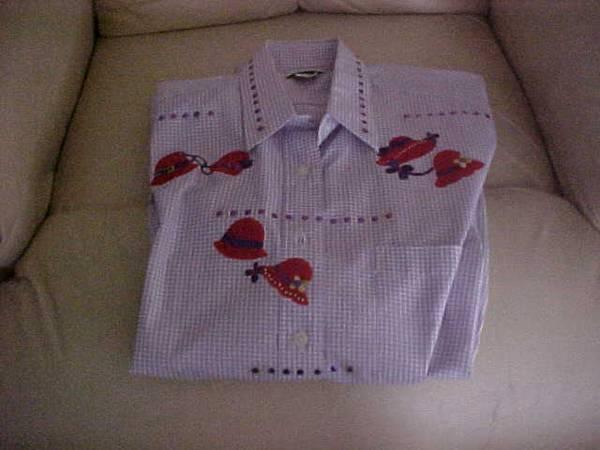 Photo RED HAT LADIES39 WESTERN SHIRT, PURPLE AND RED, SZ. MEDIUM, LONG SLEEVE - $8 (ENGLEWOOD, FL)