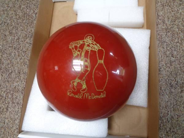 Photo Red Vintage McDonald Ebonite Polyester Undrilled Bowling Ball. - $25 (Sarasota)