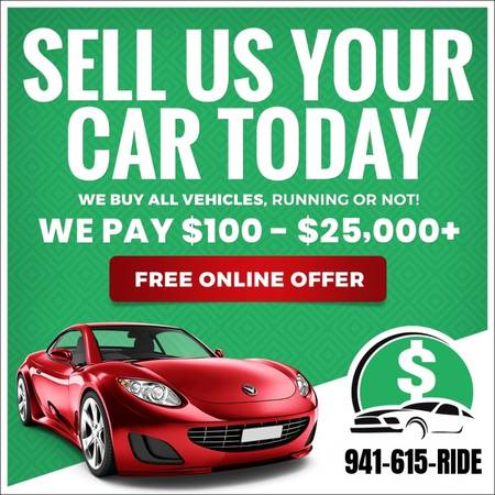 Photo SELL US YOUR UNWANTED  JUNK  SCRAP CAR - WE BUY CARS 941-615-7433 (Southwest Florida)
