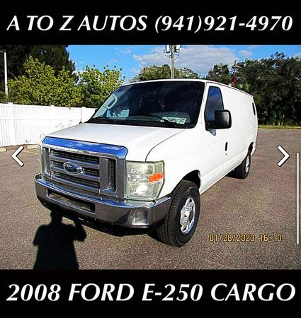Photo SEVERAL VANS TO CHOOSE FROM 2008 FORD E-250 - $6500 (A TO Z AUTOS - YOUR 1 BUY HERE PAY HERE)