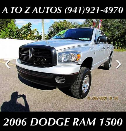 Photo TAX TIME - BRING YOUR W2 AND DRIVE - 2006 DODGE RAM 1500 4X4 - $7900 (A TO Z AUTOS - YOUR 1 BUY HERE PAY HERE)