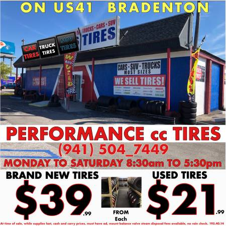 Photo TIRES BRAND NEW Cars Trucks SUV - $39 (Grand opening sale)