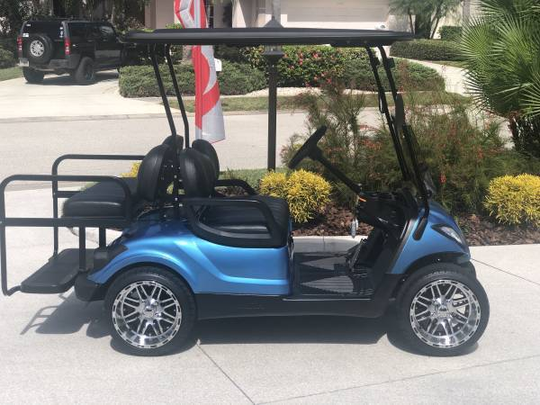 Photo LIKE BRAND NEW 14quot CUSTOM GOLF CART WHEELS AND TIRES - $350 (Riverside Club  Ruskin)
