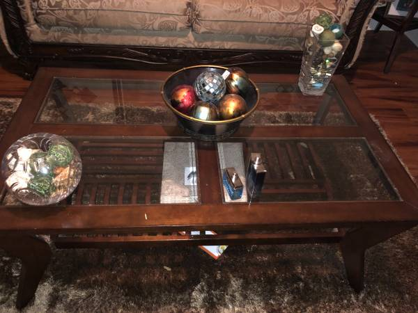 Photo 3 piece Glass Table Set - $150 (Pooler)