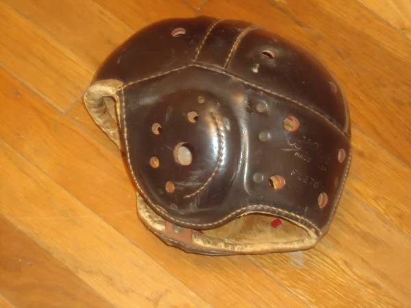 Photo Antique leather football helmet. (Port Wentworth,Ga)