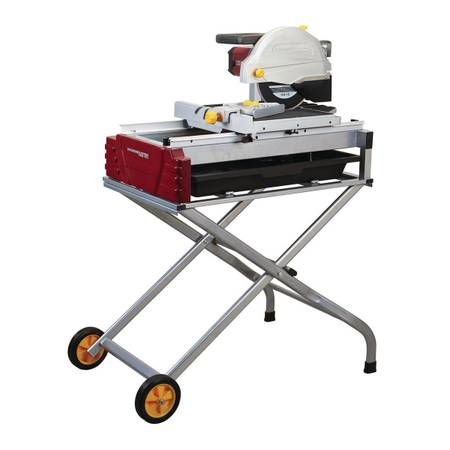 Photo Chicago Electric 10 inch wet tile saw with sliding table and stand - $400 (Claxton)