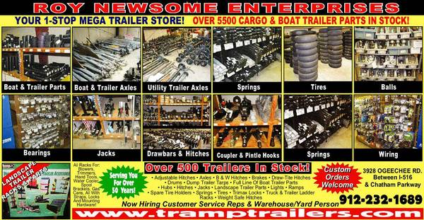 Photo Hard to find trailer  boat trailer parts sold here (3928 Ogeechee Road)