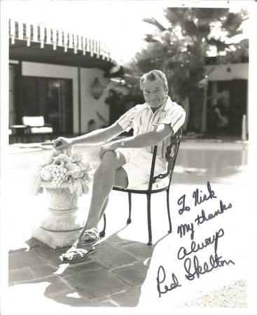 Photo Red Skelton Signed 10x8 Black and White Photo, Dedicated quotto Nickquot - $150 (Port Wentworth)