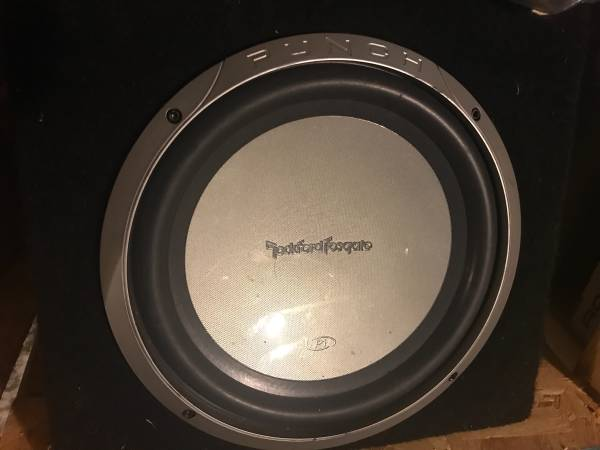 Photo Rockford Fosgate subwoofer and Amplifier - $150 (Richmond Hill)