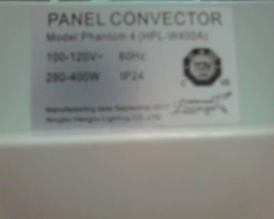 Photo Wall Panel Heater - New Age Living (Model Phantom 4 (HPL-W400A) - $49 (Savannah)