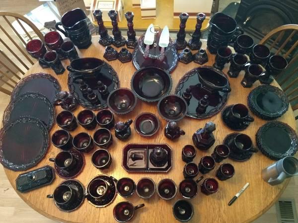 Photo Avon Cape Cod - Red Glass quot1876quot - $700 (Stapleton)