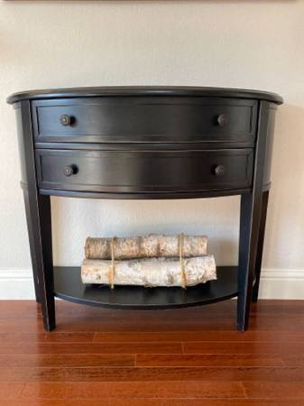 Photo Ballard Designs Newport Demilune Table with Shelf - $225 (SW Longmont)