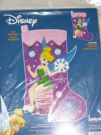 Photo Christmas Stocking Kit-Disney Tinker Bell-NEW-Felt Applique - $15 (Westminster)