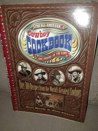 Photo Cowboy cookbook-Roy Rogers and John Wayne - $10 (Aurora)