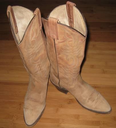 Photo Dan Post Women39s Tan Suede Round Toe Cowboy Boot Sz 7.5 - $75 (LONGMONT)