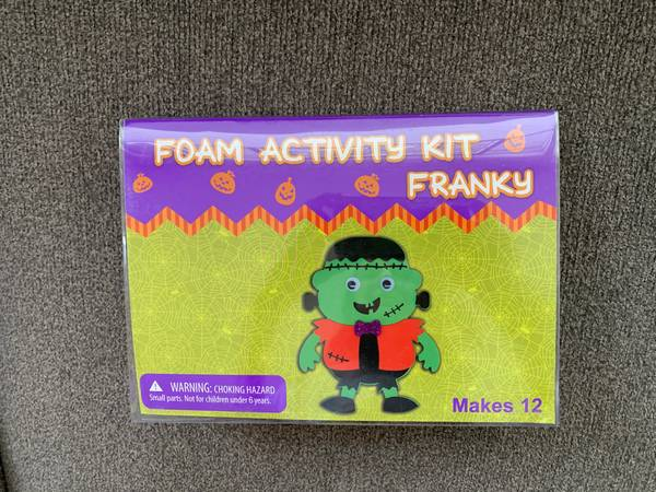 Photo Halloween Arts  Craft Kit  Party Activity - Foam Frankenstein New - $10 (Broomfield - Halloween Arts  Craft Kit  Party Activity New)