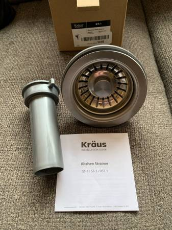 Photo Stainless Steel Kitchen Sink Strainer Kit, Kraus ST-1 5quot - New - $15 (Broomfield - Stainless Steel Kitchen Sink Strainer Kit, New)