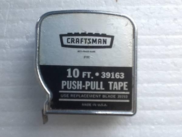 Photo Vintage Craftsman 10 Ft. Push-Pull Tape Measure - $10 (Castle Rock)